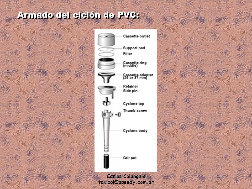 Armado del ciclón de PVC:
