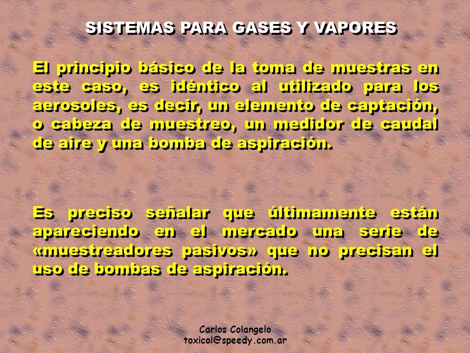 SISTEMAS PARA GASES Y VAPORES