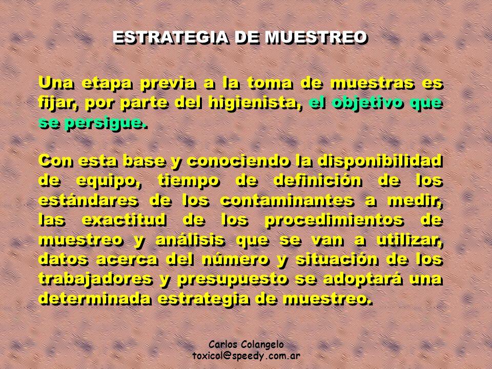 ESTRATEGIA DE MUESTREO