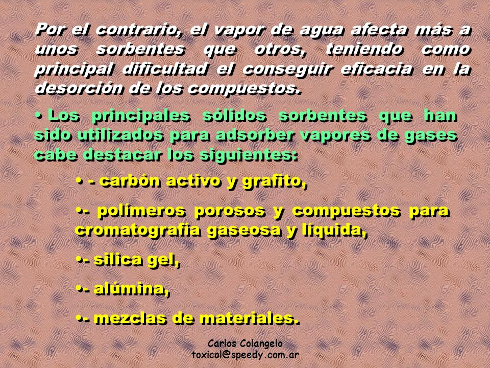 - carbón activo y grafito,