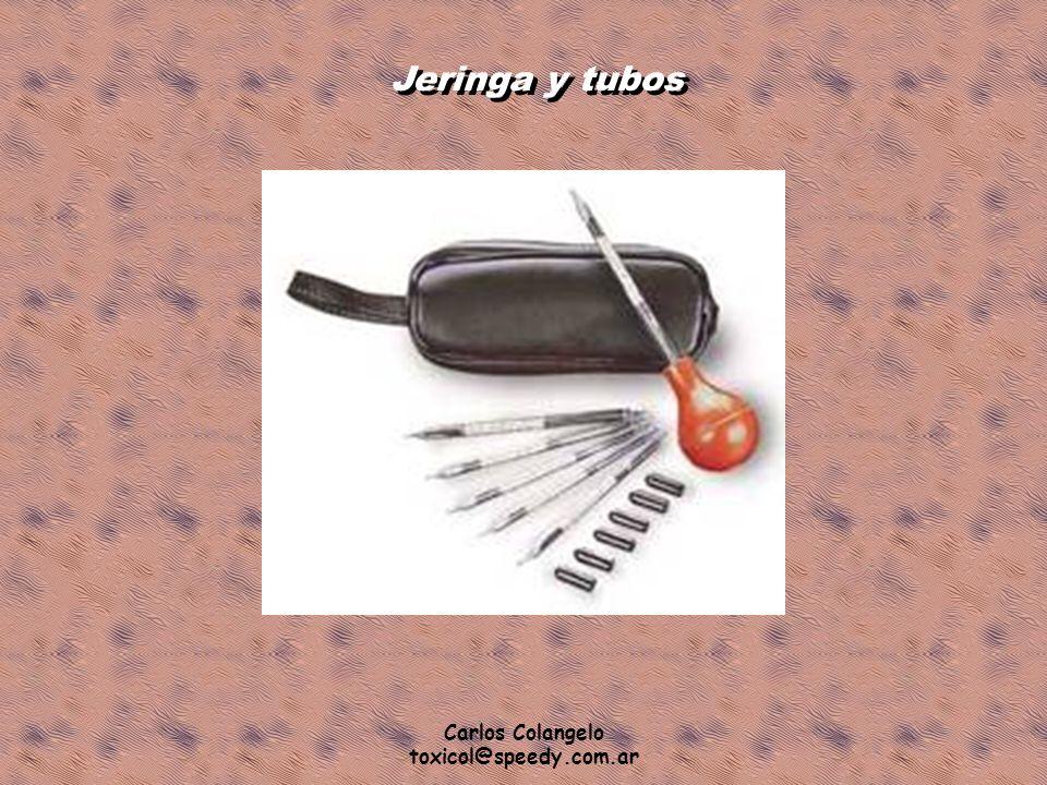 Jeringa y tubos Carlos Colangelo toxicol@speedy.com.ar