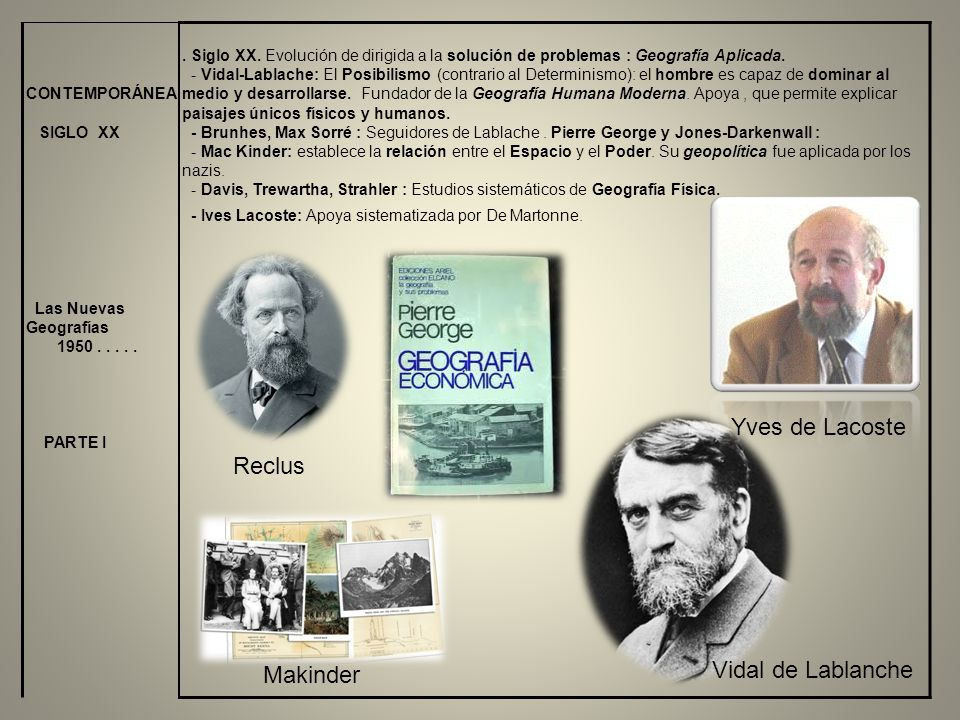 Yves de Lacoste Reclus Vidal de Lablanche Makinder CONTEMPORÁNEA