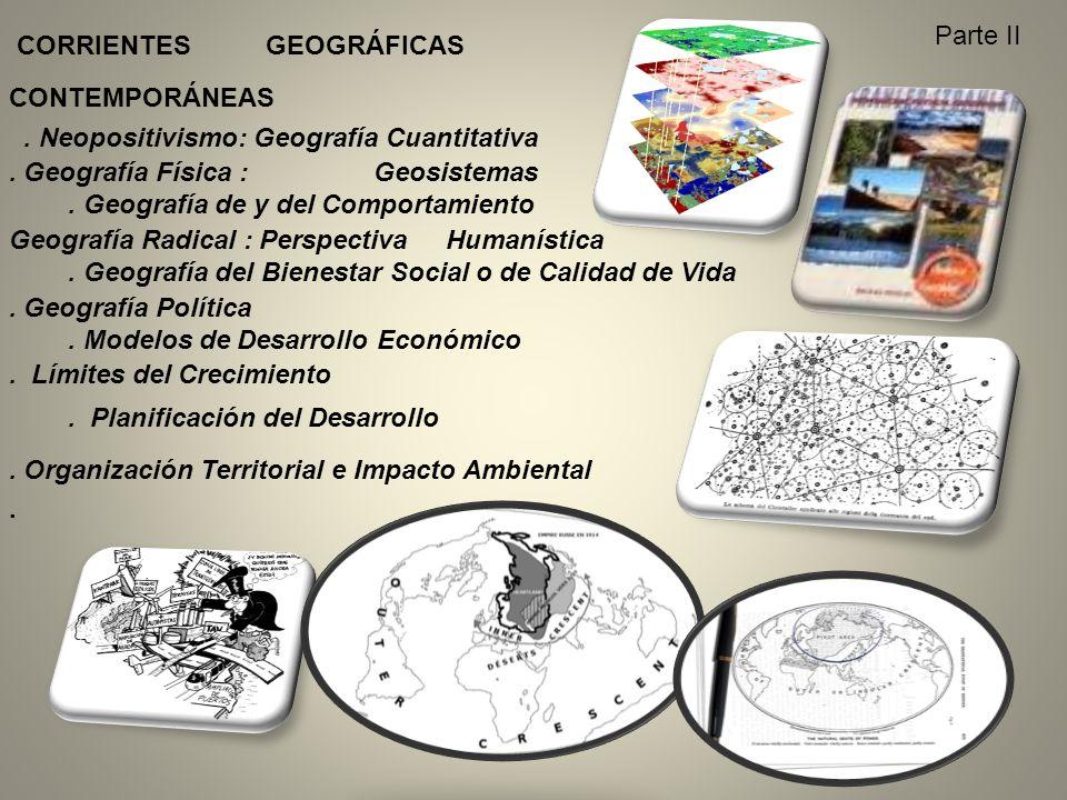 CORRIENTES GEOGRÁFICAS CONTEMPORÁNEAS