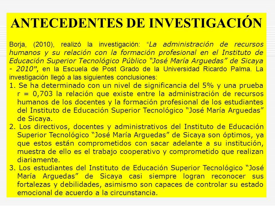 ANTECEDENTES DE INVESTIGACIÓN