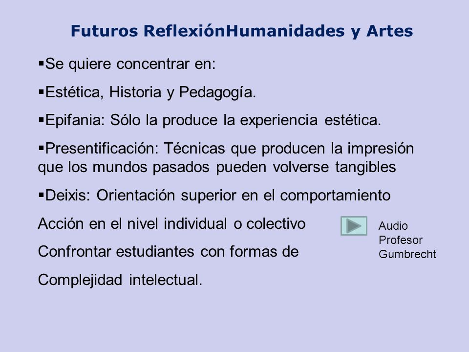Futuros ReflexiónHumanidades y Artes