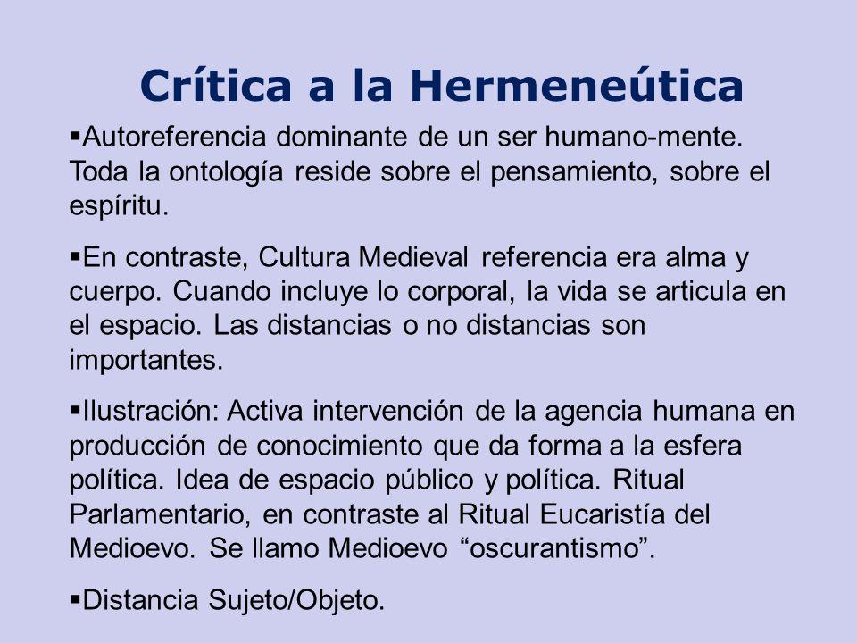 Crítica a la Hermeneútica