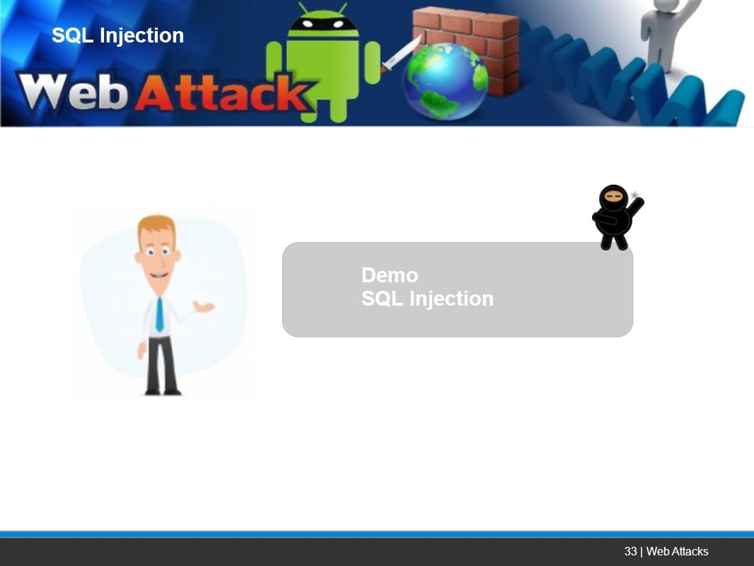 SQL Injection Demo SQL Injection 33 | Web Attacks