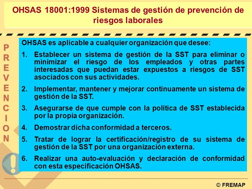 OHSAS 18001:1999 Sistemas de gestión de prevención de riesgos laborales