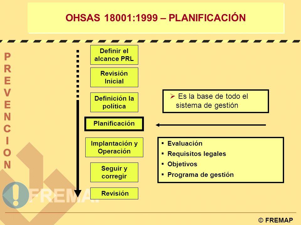 OHSAS 18001:1999 – PLANIFICACIÓN