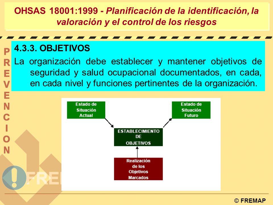 OHSAS 18001:1999 - Planificación de la identificación, la valoración y el control de los riesgos