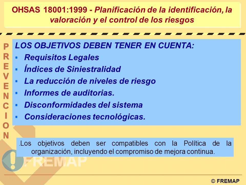 LOS OBJETIVOS DEBEN TENER EN CUENTA: Requisitos Legales