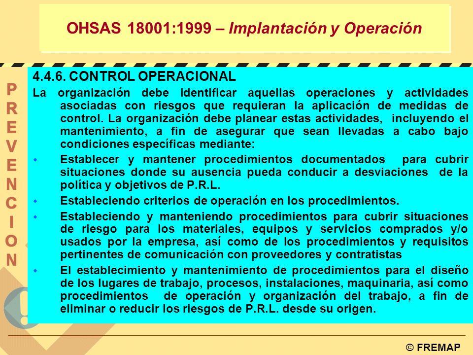 OHSAS 18001:1999 – Implantación y Operación