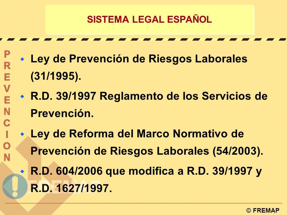 Ley de Prevención de Riesgos Laborales (31/1995).