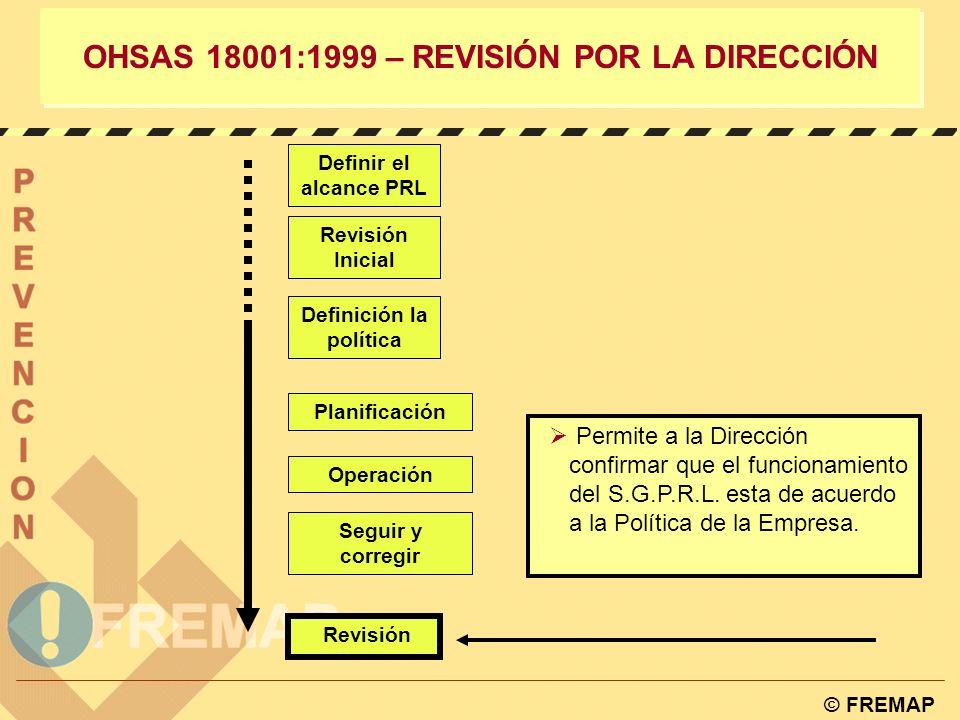 OHSAS 18001:1999 – REVISIÓN POR LA DIRECCIÓN