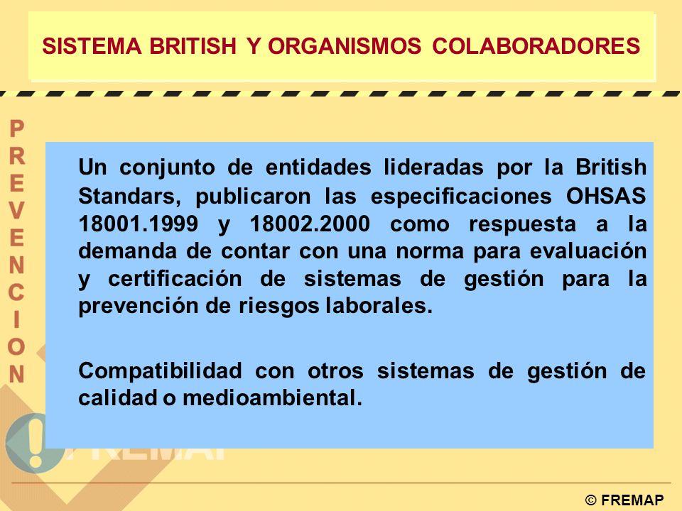 SISTEMA BRITISH Y ORGANISMOS COLABORADORES