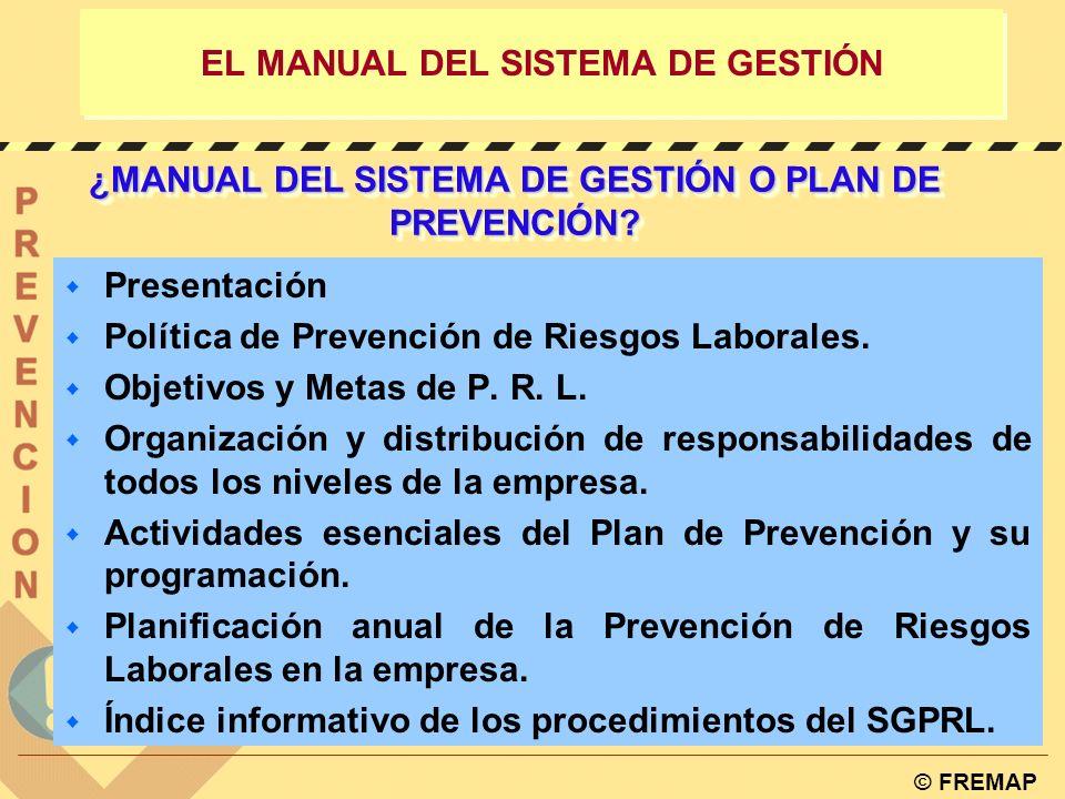 EL MANUAL DEL SISTEMA DE GESTIÓN