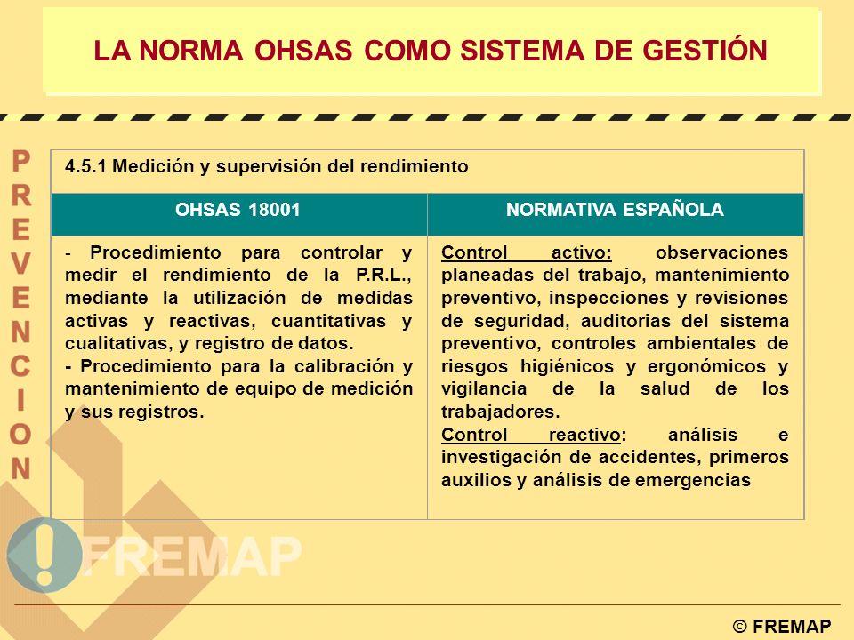 LA NORMA OHSAS COMO SISTEMA DE GESTIÓN