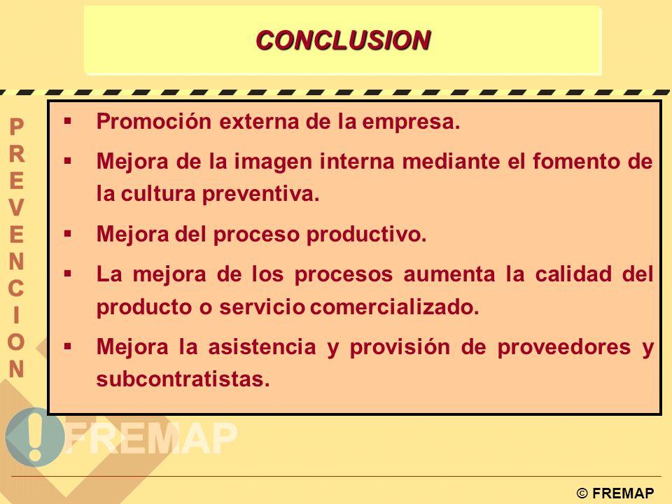 CONCLUSION Promoción externa de la empresa.