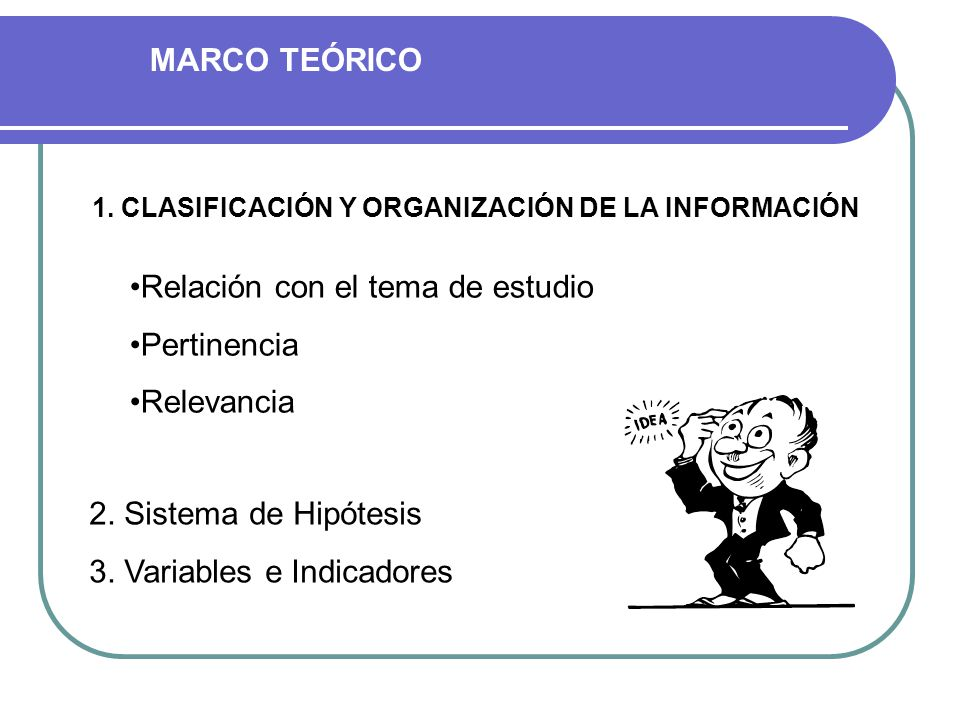 1. CLASIFICACIÓN Y ORGANIZACIÓN DE LA INFORMACIÓN