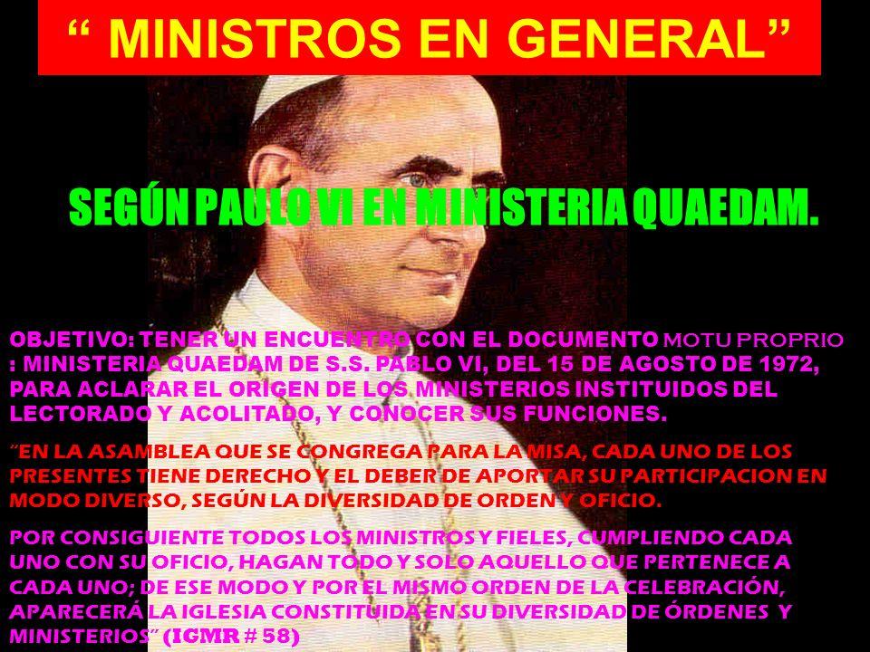 MINISTROS EN GENERAL