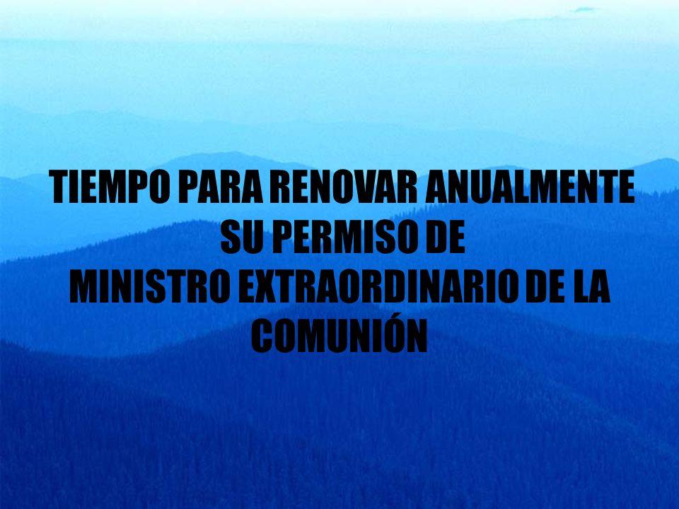 MINISTRO EXTRAORDINARIO DE LA COMUNIÓN