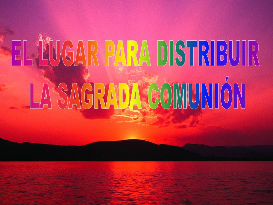 EL LUGAR PARA DISTRIBUIR