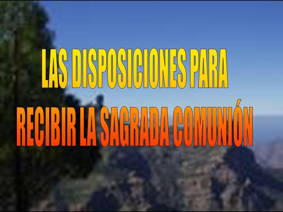 LAS DISPOSICIONES PARA RECIBIR LA SAGRADA COMUNIÓN