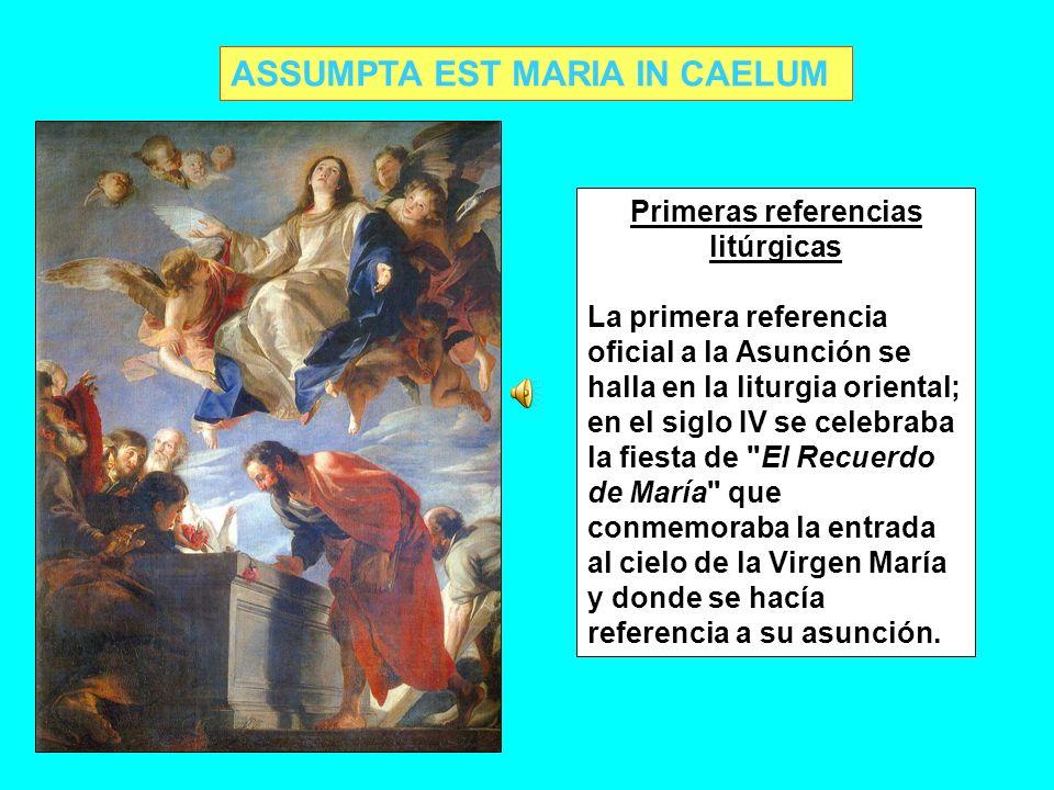 Primeras referencias litúrgicas