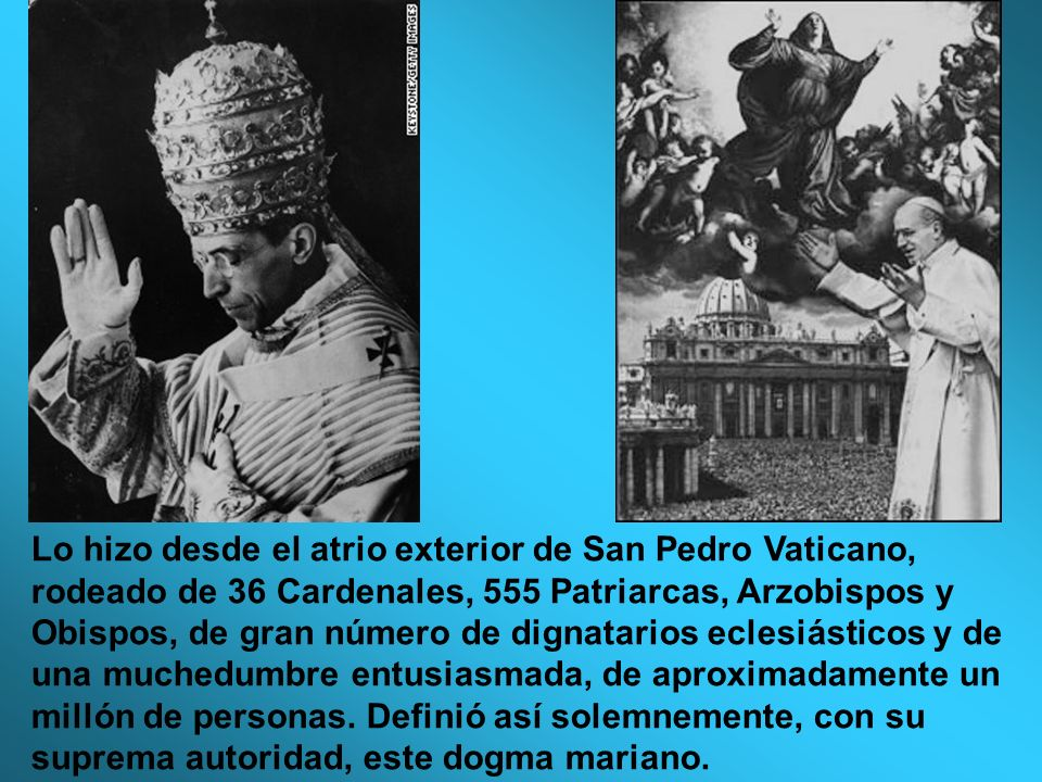 Lo hizo desde el atrio exterior de San Pedro Vaticano, rodeado de 36 Cardenales, 555 Patriarcas, Arzobispos y Obispos, de gran número de dignatarios eclesiásticos y de una muchedumbre entusiasmada, de aproximadamente un millón de personas.
