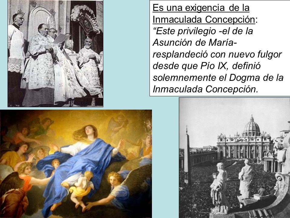 Es una exigencia de la Inmaculada Concepción: