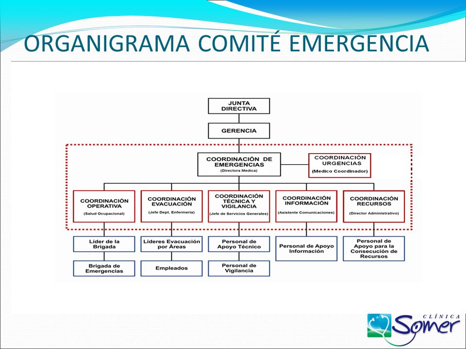 ORGANIGRAMA COMITÉ EMERGENCIA