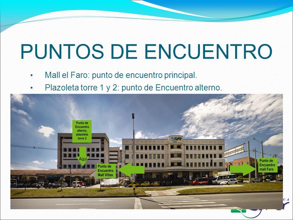 PUNTOS DE ENCUENTRO Mall el Faro: punto de encuentro principal.