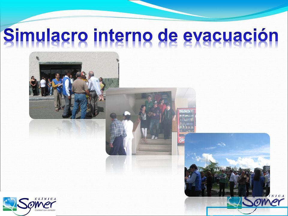 Simulacro interno de evacuación
