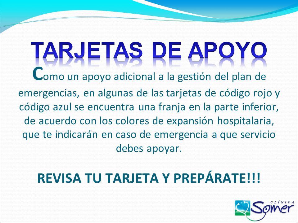 TARJETAS DE APOYO