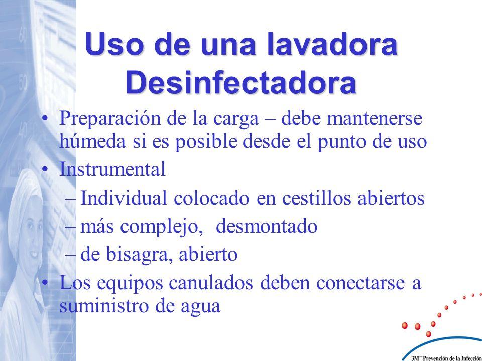 Uso de una lavadora Desinfectadora