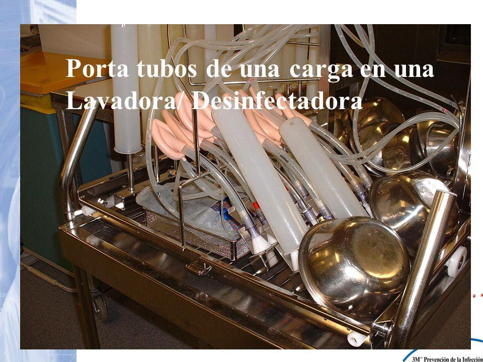 Porta tubos de una carga en una Lavadora/ Desinfectadora