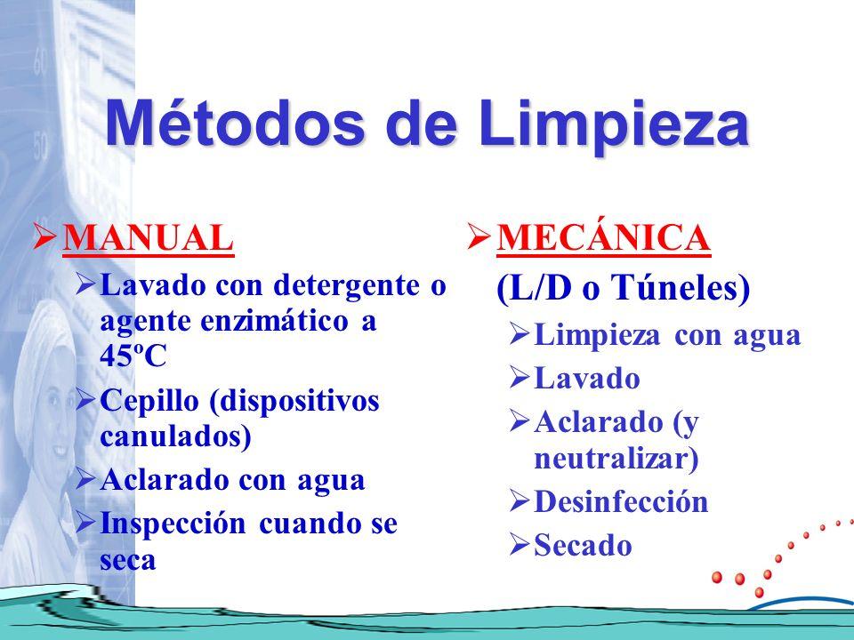 Métodos de Limpieza MANUAL MECÁNICA (L/D o Túneles)