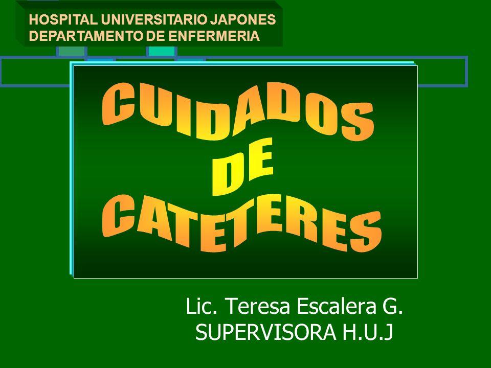 Lic. Teresa Escalera G. SUPERVISORA H.U.J
