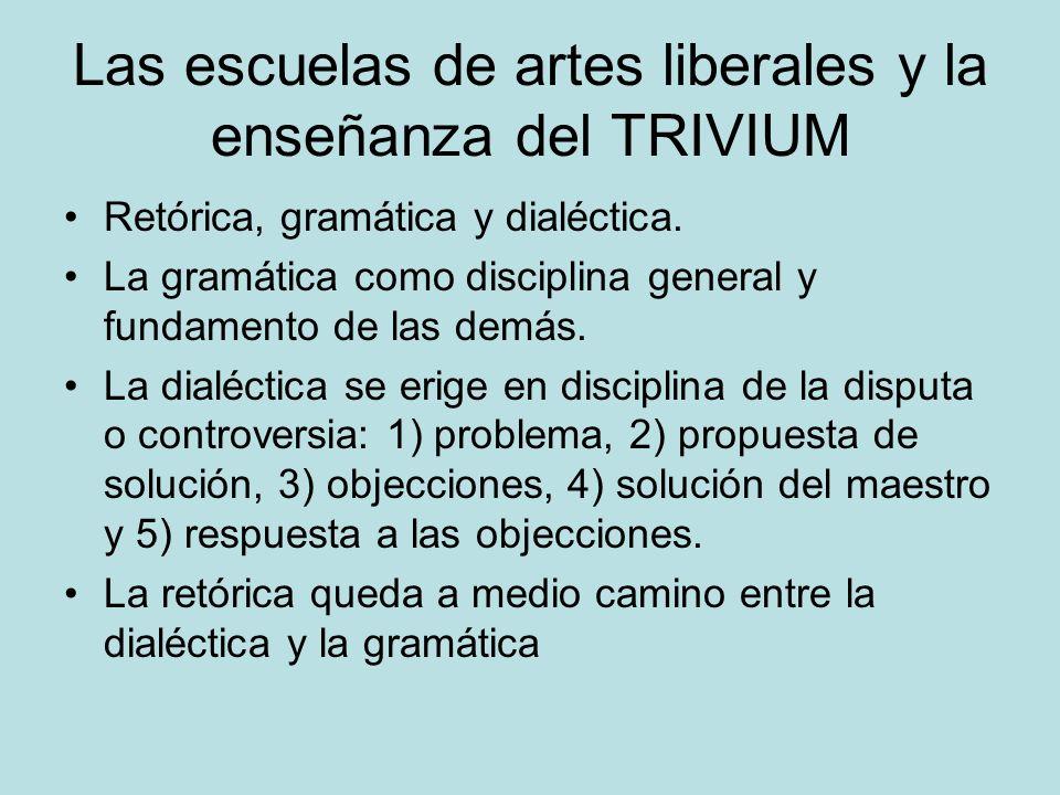 Las escuelas de artes liberales y la enseñanza del TRIVIUM