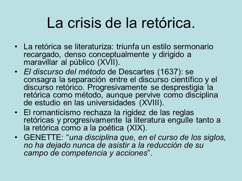 La crisis de la retórica.