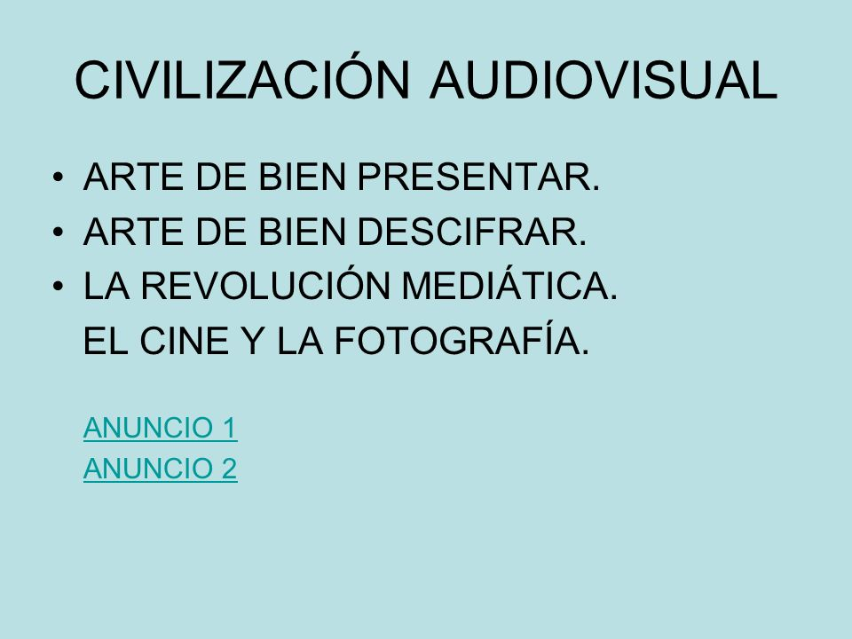 CIVILIZACIÓN AUDIOVISUAL