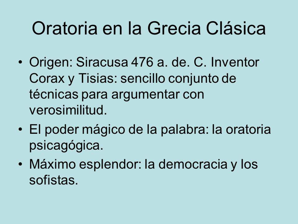 Oratoria en la Grecia Clásica