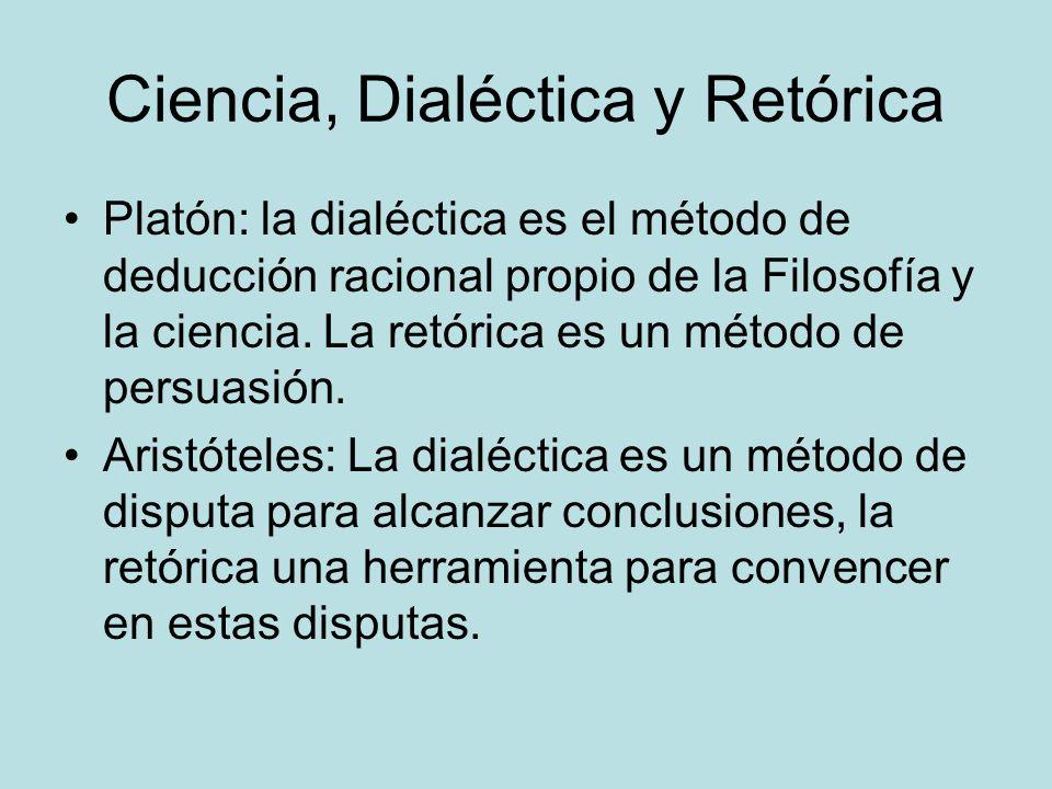 Ciencia, Dialéctica y Retórica
