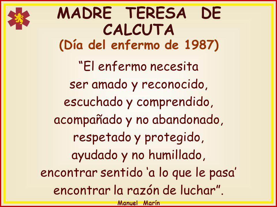 MADRE TERESA DE CALCUTA (Día del enfermo de 1987)