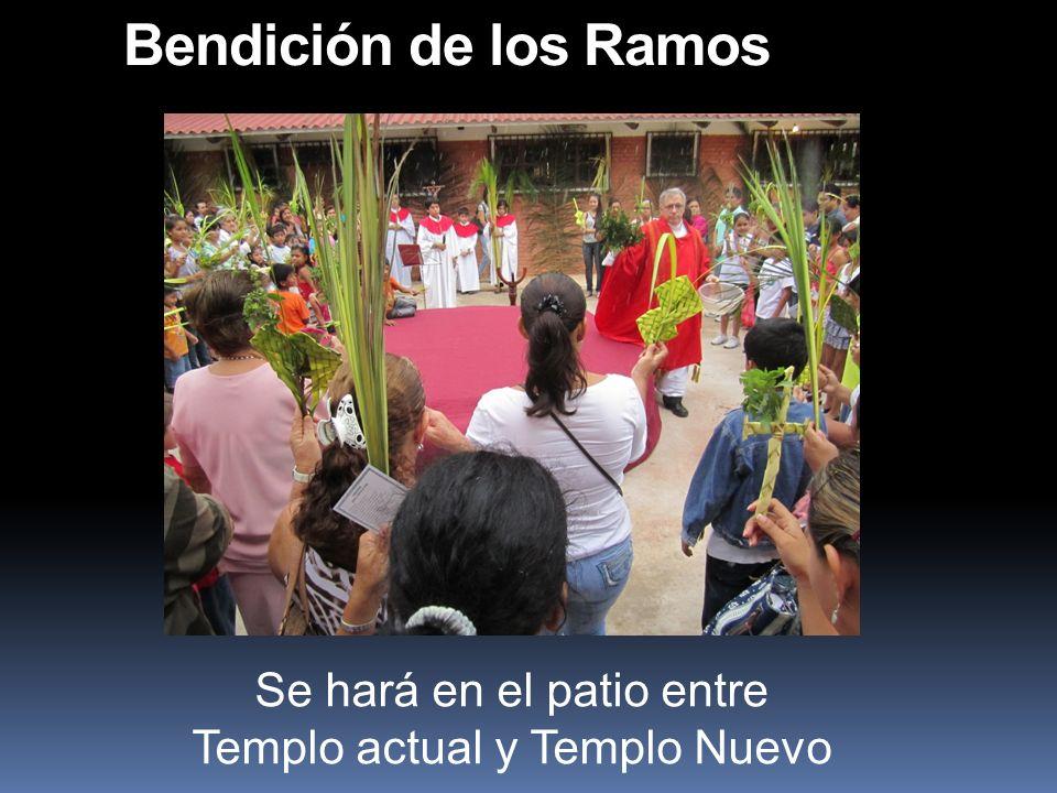 Se hará en el patio entre Templo actual y Templo Nuevo
