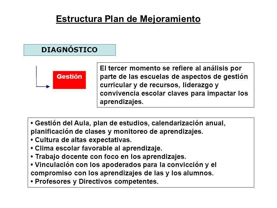 Estructura Plan de Mejoramiento