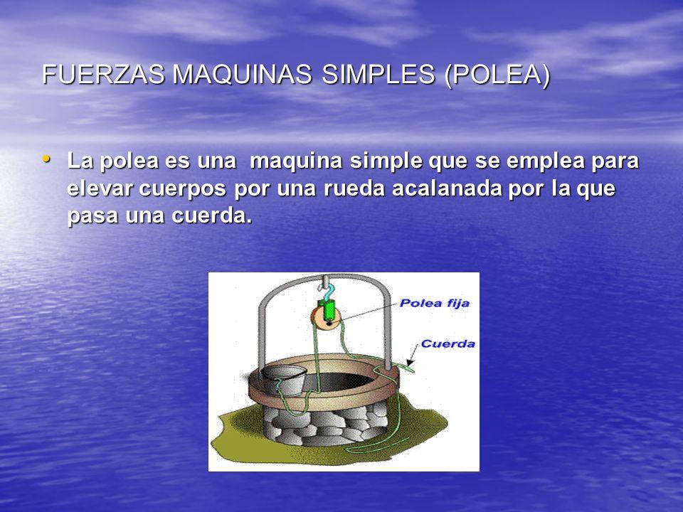 FUERZAS MAQUINAS SIMPLES (POLEA)