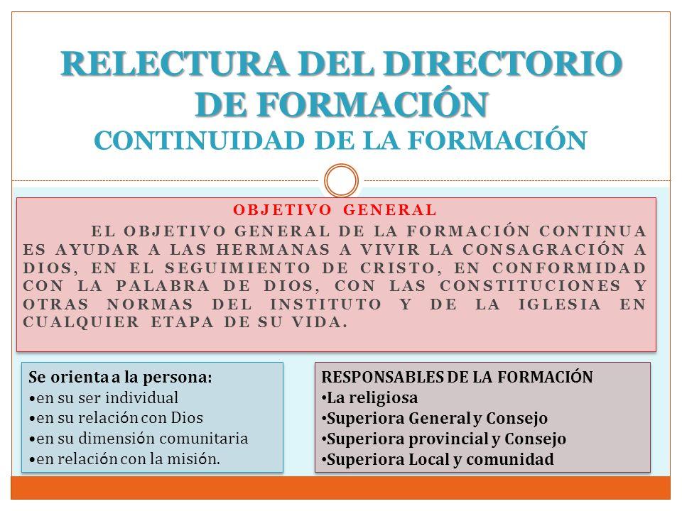 RELECTURA DEL DIRECTORIO DE FORMACIÓN CONTINUIDAD DE LA FORMACIÓN