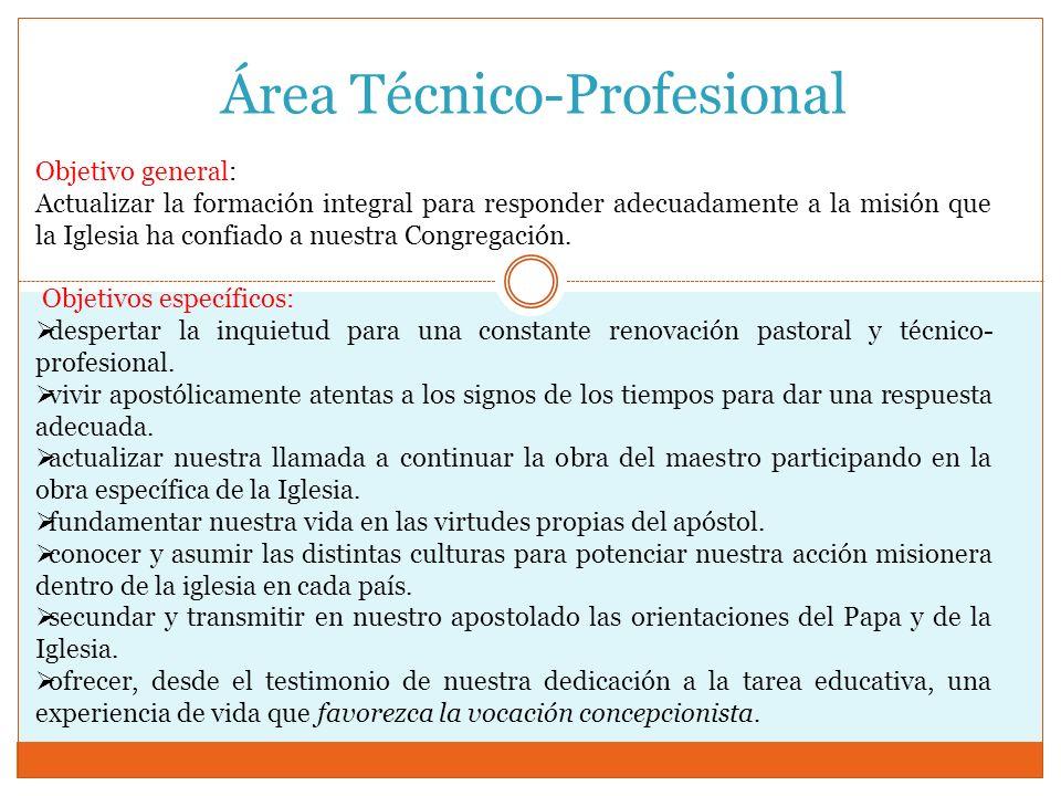 Área Técnico-Profesional