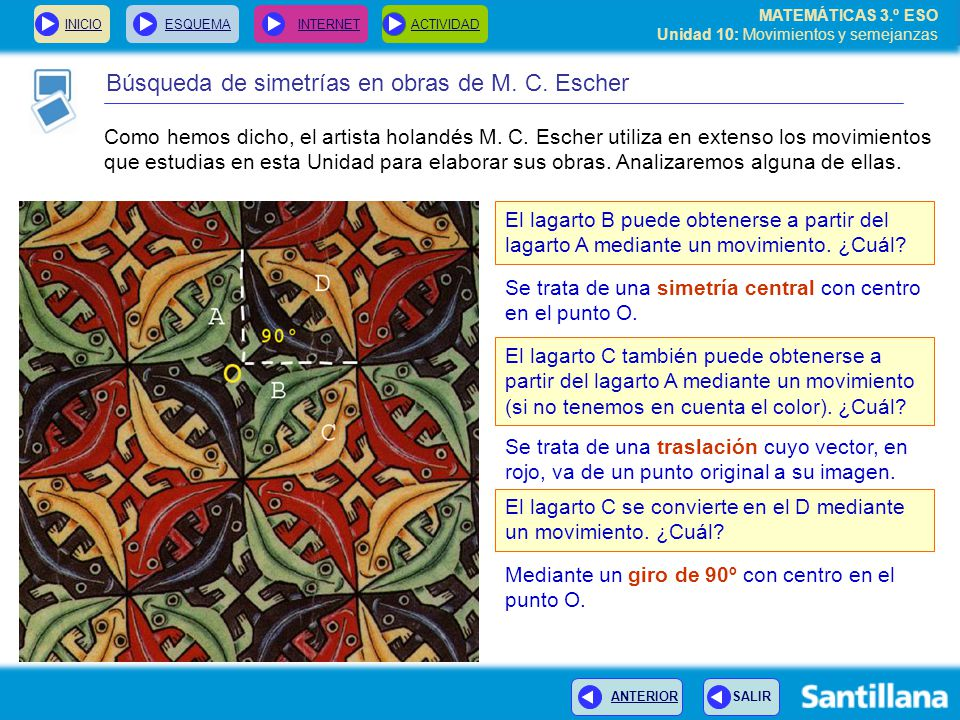 Búsqueda de simetrías en obras de M. C. Escher
